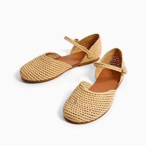 Zara girls fabric D'orsay shoes